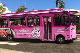 Breast Cancer Awareness Pink Trolley