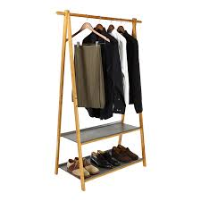 Decorative Metal Garment Rack by Portable Garment And Clothes Storage Racks Storables