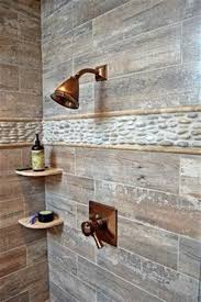 rustic wood white tile shower rustic living room
