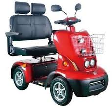 Image Is Loading Lovebird 2 Seater 4 Wheel Electric Mobility Scooter