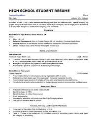 Website Resume Examples High School Student Example On Summary