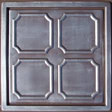 24x24 Pvc Ceiling Tiles by Alfa Silver Chocolate 24x24
