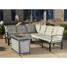 Patio Furniture Conversation Sets With Fire Pit by Cosco Outdoor Serene Ridge Aluminum Propane Gas Fire Pit Table
