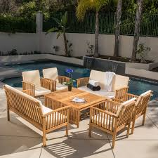 8 Person Patio Table by Best Selling Home Hayak 8 Piece Conversation Set Walmart Com