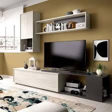 eck tv lounge der obi serie aus grau und graphit