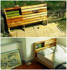 Pallet Bed Frame by New Pallet Bed Frame U0026 Headboard For Our New Home U2022 1001 Pallets