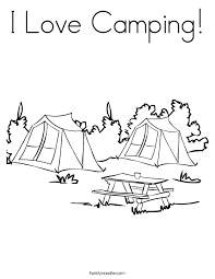 Gallery For Camping Coloring Pages Preschool