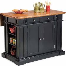 Home Styles Traditions Kitchen Island Black Distressed Oak