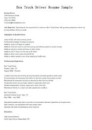 Sample Resume Truck Driver Dispatcher With