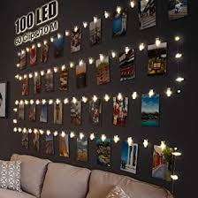 led fotoclips lichterkette für zimmer deko litogo 10m