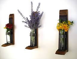 Wall Decor Flower Holder Hanging Holders Recycled Glass And Wine