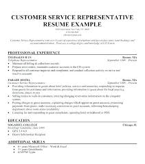 Resume Examples For Jobs Good Samples Customer Service Objective Duties