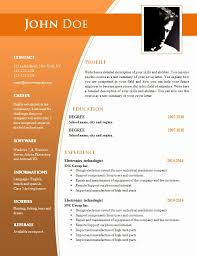 Free Resume Template Word Document 7