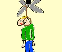 Dead Man Hanging From Ceiling Fan