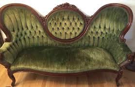 Tufted Sage Green Velvet Sofa 6