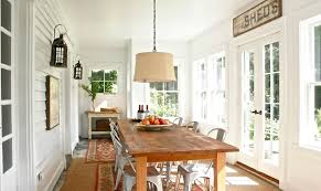 Rustic Farmhouse Dining Room Sunroom