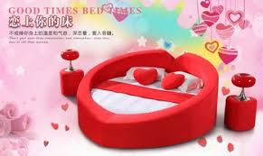 Red Fabric Heart shaped Bed Design 2014 Buy Heart shaped Bed