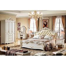 antike leder betten europäischen königlichen betten für schlafzimmer möbel luxus holz betten sets