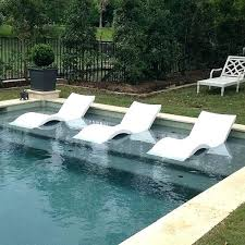 In Water Pool Chairs The Ledge Lounger Outdoor Chaise Lounge Chair Salt