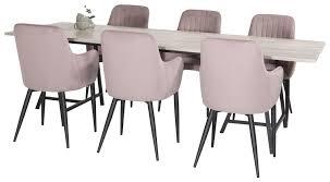 essgruppe nester mit 6 stühlen