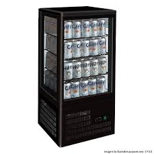 TCBD78B Four Sided Countertop Display Fridge Black