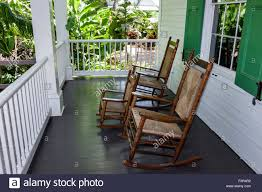 Rocking Chair On Porch Old Stock Photos & Rocking Chair On Porch Old ...