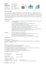 Sample Resume Office Manager Construction Company Pic Template 3