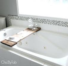 Teak Bathtub Caddy Canada by Bathtub Pole Shelves Shelf Ideas Shower Lawratchet Com
