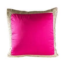 Metallic Silver Studded Amara Fuchsia Hot Pink Decorative Throw