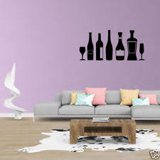 Wall Decal Quote Kitchen Decor Wine Bottle JP222