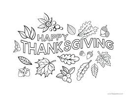 Printable Disney Thanksgiving Coloring Pages For Preschoolers Free Happy Page