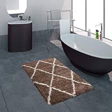 paco home badematte badezimmer shaggy hochflor einfarbig mit