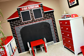 Fire Truck Bedroom Fireman Accessories - Fire Truck Wall Stickers ...