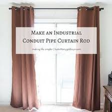 Umbra Capasa Double Curtain Rod by How To Hang Corner Curtain Rods U0026 Painting The Ceiling Blue