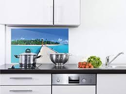 grazdesign glasplatte küche strand spritzschutz küche glas