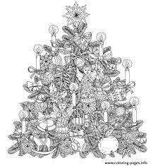 Adult Christmas Tree With Ornaments By Mashabr Coloring Pages Printable And Book To Print For Free Find More Online Kids