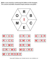 Make Words using Letters R B C E M O I Worksheet Turtle Diary