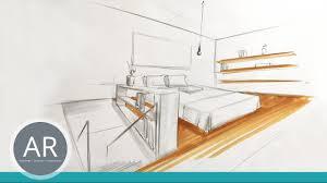 innenarchitektur skizzen räume schnell zeichnen lernen mappenkurs innenarchitekur