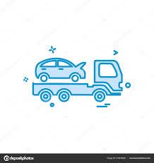 100 Tow Truck Insurance Auto Car Icon Vector Design Stock Vector