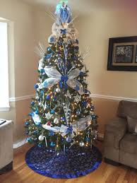 Tinkerbell Light Up Christmas Tree Topper by Royal Blue White And Silver Christmas Tree Love The Color