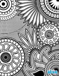 Paisley Hearts And Flowers Anti Stress Coloring Design Worksheet Color Online Print