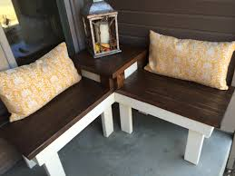 End Table With Attached Lamp by Remodelaholic Build A Corner Bench With Built In Table