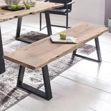 esszimmer bank gaya baumstamm massivholz akazie 160 x 45 x 40 cm robuste naturholz küchenbank mit hoher stabilität echtholz essbank mit baumkante