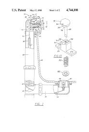 Bathtub Overflow Plate Trip Lever by Patent Us4744108 Bathtub Drain Apparatus Google Patents