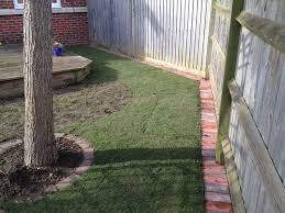 Menards Patio Block Edging by How To Do Brick Edging Newly Created Lawn Edge Along The