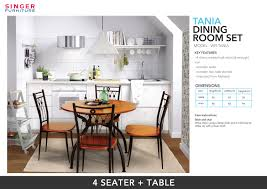 Buy Tania Dining Room Set | Model WFI-TANIA | Dining Sets | SINGER ... Ding Room And Kitchen Nebraska Fniture Mart Nichols Stone Find Great Deals On Ashley In Pladelphia Pa The Home Depot Canada Portland Table Sets City Liquidators Chairs Exclusive Designs Luxury Seating Custom Made Ding Room Fniture Archives Juniper Liberty Nostalgia Oval Pedestal 10cdots Amazoncom Delta Children Windsor Kids Wood Chair Set 2 My Place Quality Fniture At Distributor Prices John Thomas Thomasville Nc Ercol Buy Oxford Simply