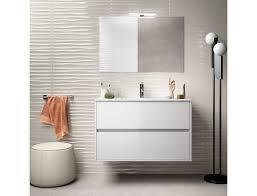 badezimmer badmöbel 90 cm aus glänzend weiß lackiertem holz mit porzellan waschtisch zubehör standard