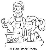 cooking clipart black and white 2