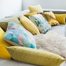 taie coussin canapé hiver cachemire cristal simple couleur simple oreiller moderne en