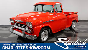 1958 Chevrolet Apache | Streetside Classics - The Nation's Trusted ... 1958 Chevrolet Apache Stepside Pickup 1959 Streetside Classics The Nations Trusted Cameo F1971 Houston 2015 For Sale Classiccarscom Cc888019 This Chevy Is Rusty On The Outside And Ultramodern 3100 Sale 101522 Mcg 3200 Truck With A Twinturbo Ls1 Engine Swap Depot Editorial Stock Image Of Near Woodland Hills California 91364 Chevrolet Pickup 243px 1 Customer Gallery 1955 To